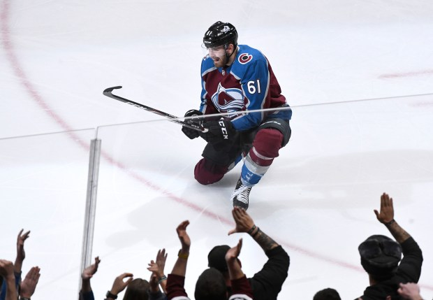Colorado Avalanche right wing Martin Kaut ...