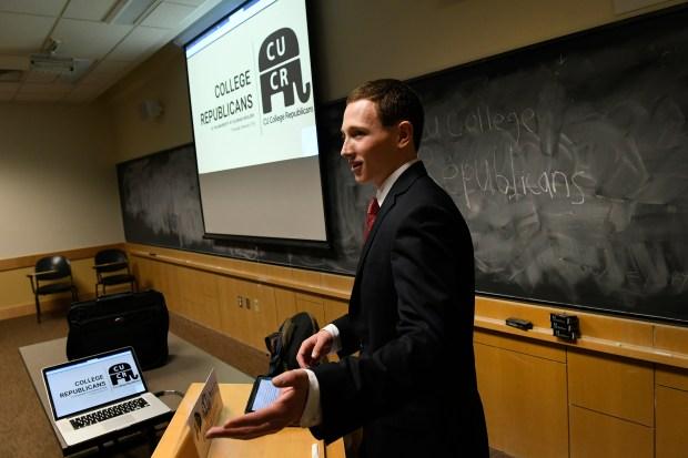 CU College Republican president Joey Fratino ...
