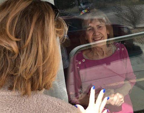 Jill Dvorak visits mother