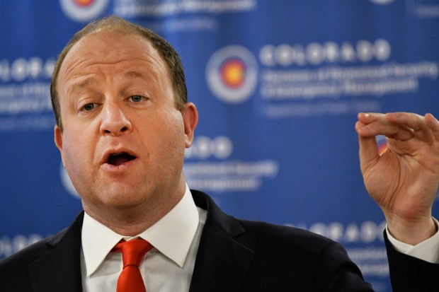 Colorado Governor Jared Polis during his ...