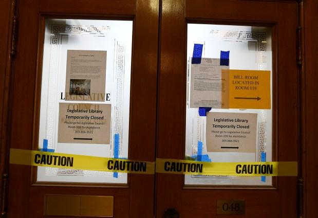 The legislative library remains closed at ...