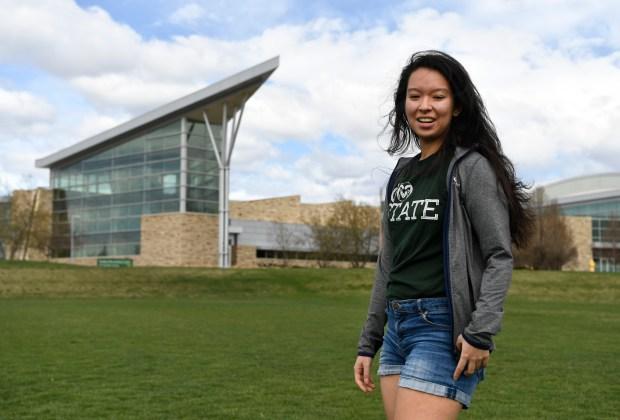 Colorado State University senior Kaori Keyser ...