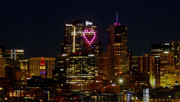 Optiv Building displays Giant Heart in ...