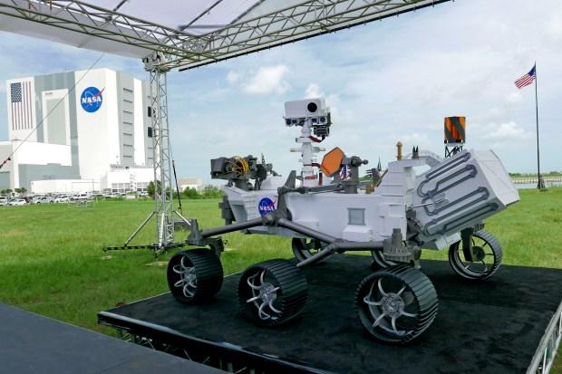 A replica of the Mars rover ...