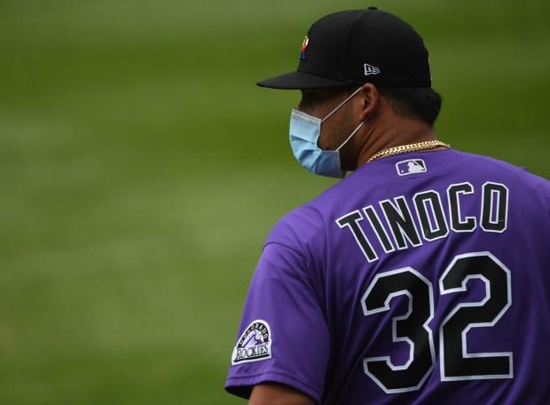 Jesús Tinoco (32) wears a mask ...