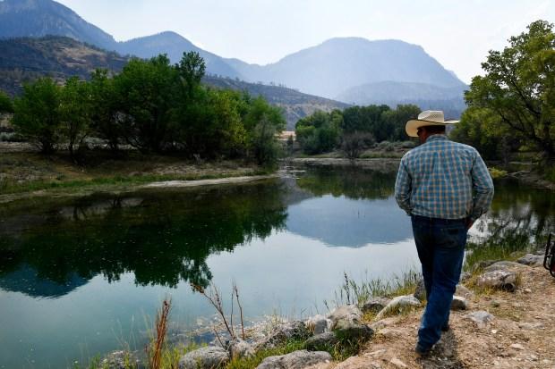 Longtime rancher Todd Brackett, checks out ...