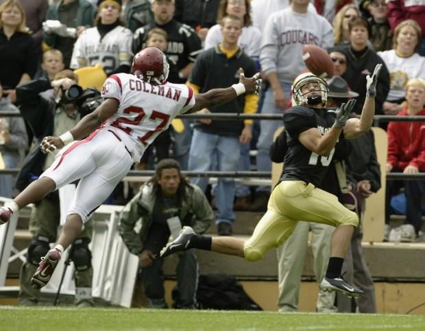 Wide receiver Jeremy Bloom #15 of ...