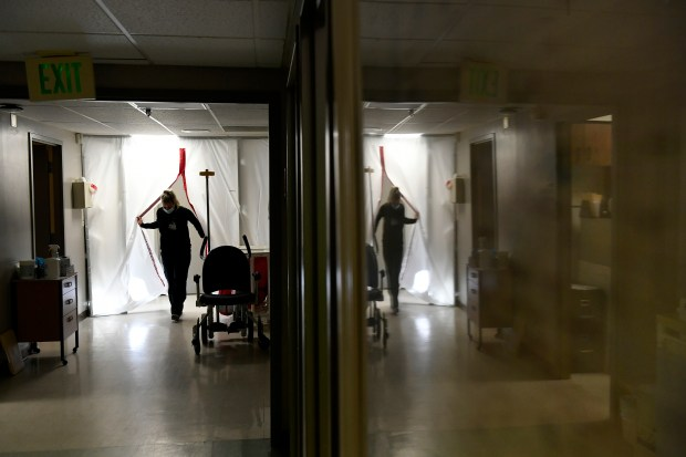 Nurse Sam Gaudreault exits the Covid-19 ...
