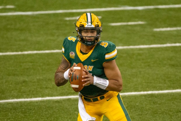 North Dakota State quarterback Trey Lance ...