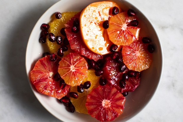 Citrus and persimmon salad, in New ...