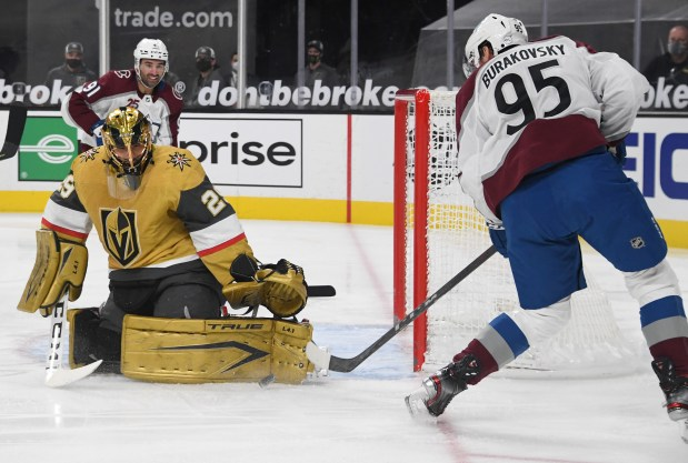 Marc-Andre Fleury #29 of the Vegas ...