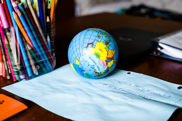 A globe ball sits in Fuad ...