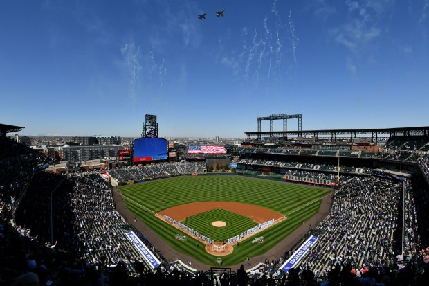 Colorado Rockies fans celebrate opening day ...