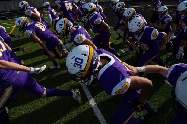 The Boulder High School football team ...