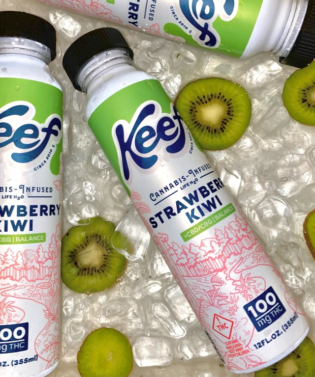 Strawberry Kiwi Life H2O by Keef Brands on ice