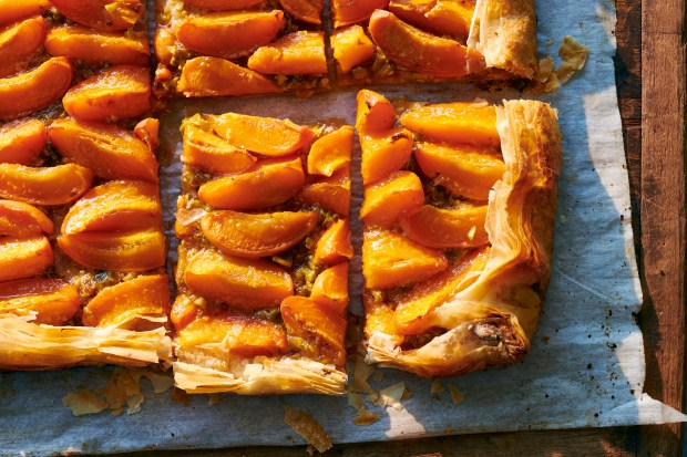 Apricot tart with pistachios in New ...
