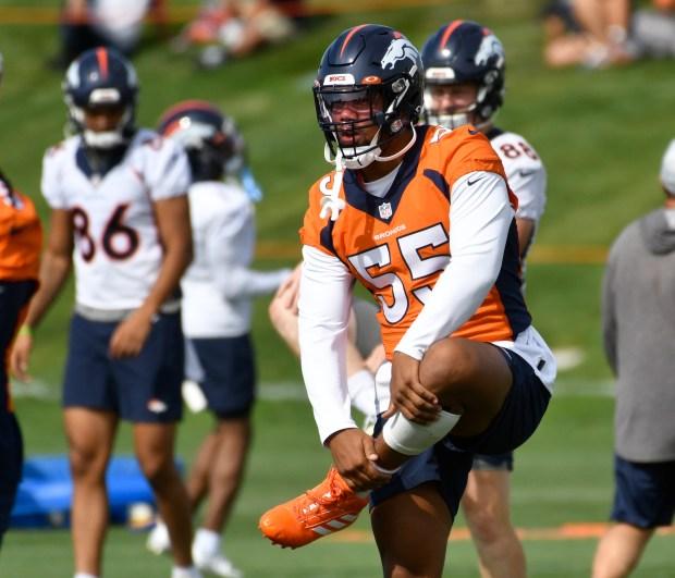 Denver Broncos outside linebacker Bradley Chubb ...