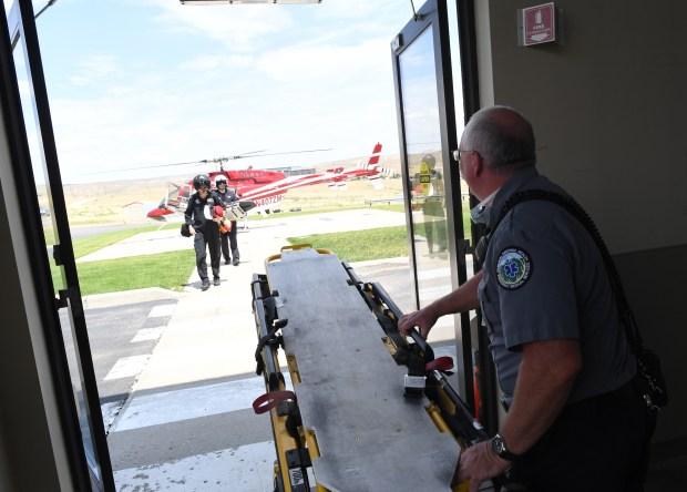 Clay Trevenen, EMT in Moffat County, ...