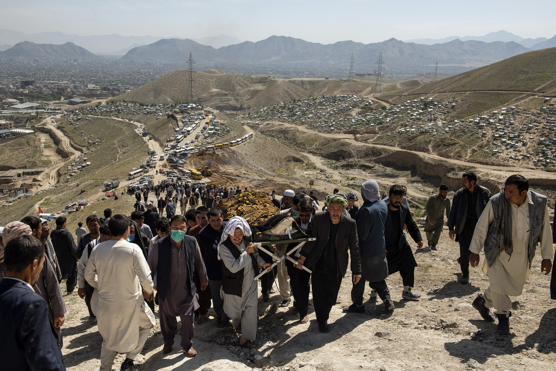 FILE ?' A funeral near Kabul ...