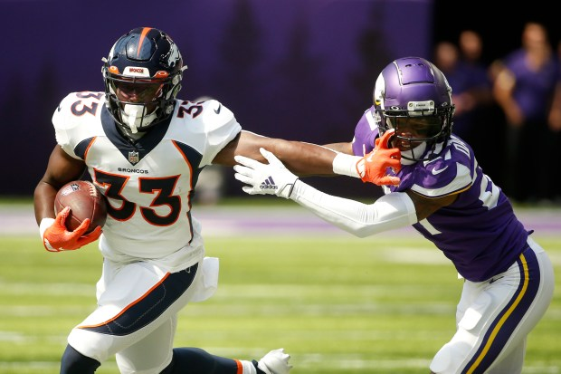 Denver Broncos running back Javonte Williams ...