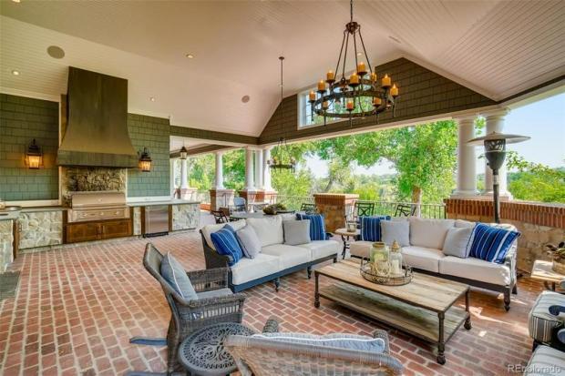 9.3D 5470 S. Highline backyard - Greenwood Village mansion lists for $7.8M
