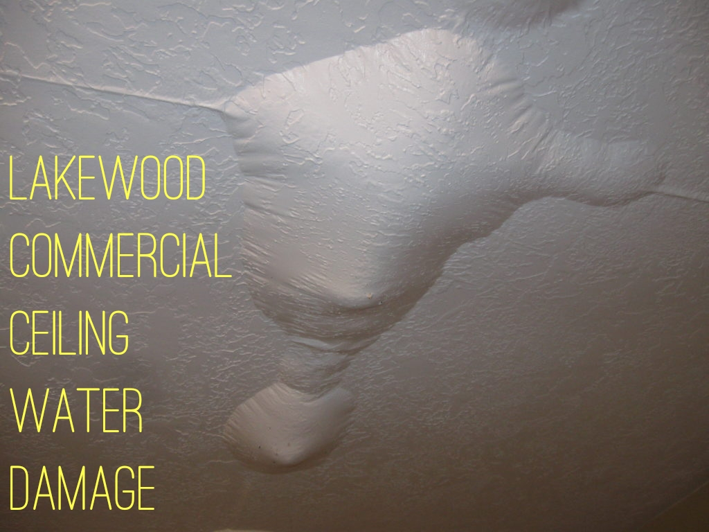 Lakewood Commercial Ceiling Water Damage
