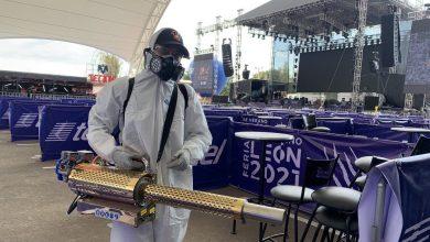 Photo of 'Cazavirus' desinfectan la Feria de Verano en León