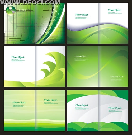 Corel Draw Book Cover Template : Green album cover background design template coreldraw