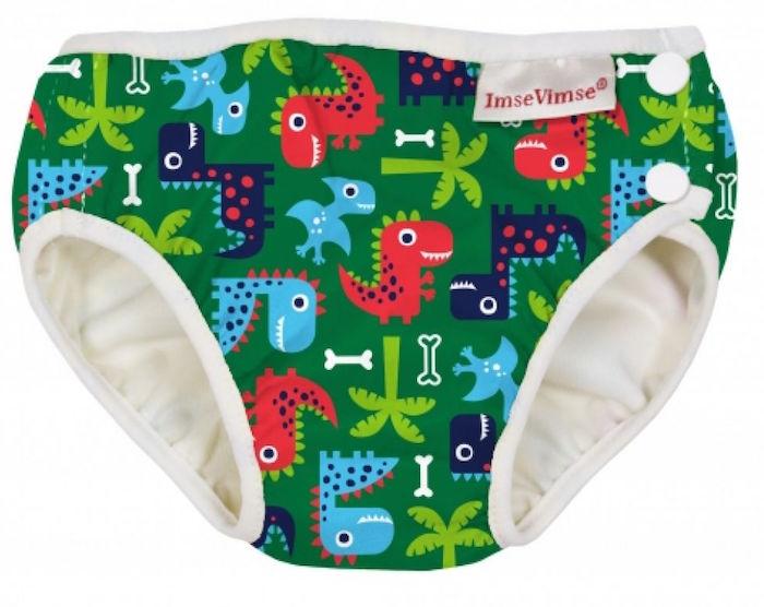 Imse Vimse Zwemluier Wasbaar Groene Dinosauriers NB 4-6kg
