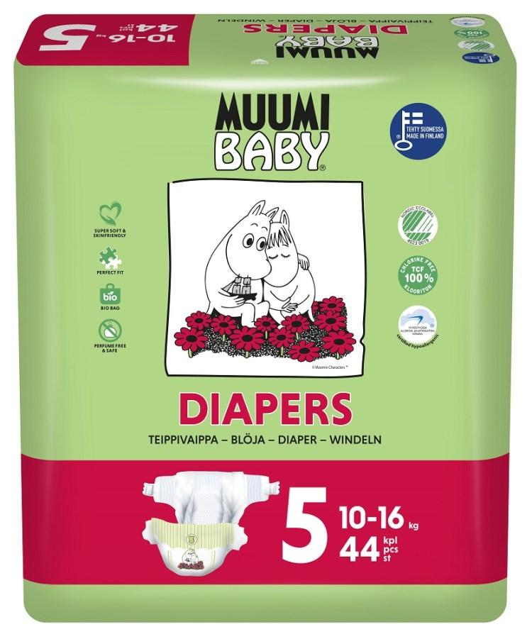 Muumi Baby Ecologische Luiers 5 Maxi Plus