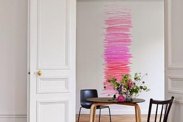 Decoración: paredes pintadas ¿con lápices de colores?