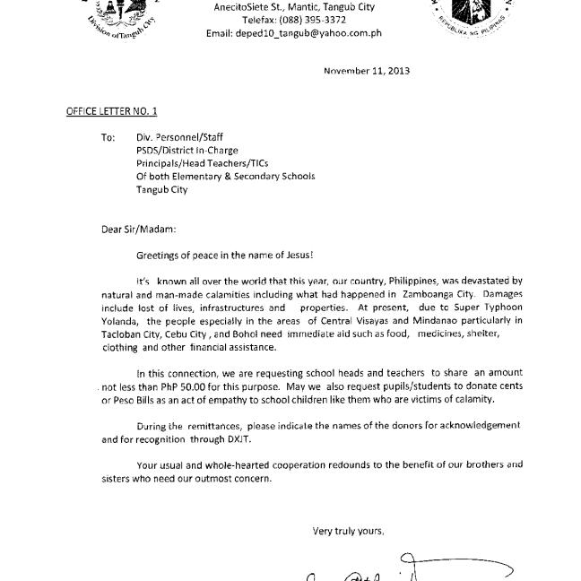 office letter # 1