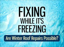 Don't Brave the Cold & Ice to Fix Your Roof!
