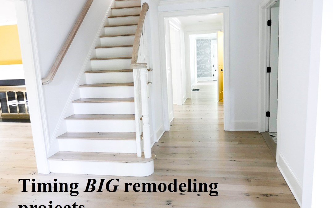 Best time for big remodeling projects?