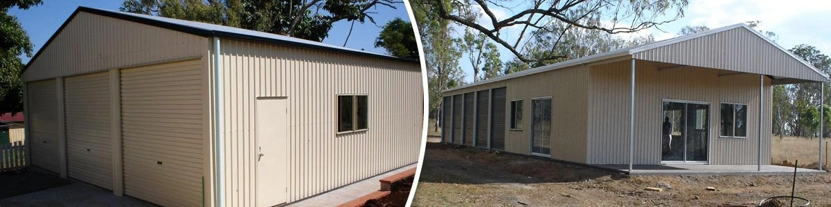 Garages, farm sheds, outdoor steel buildings