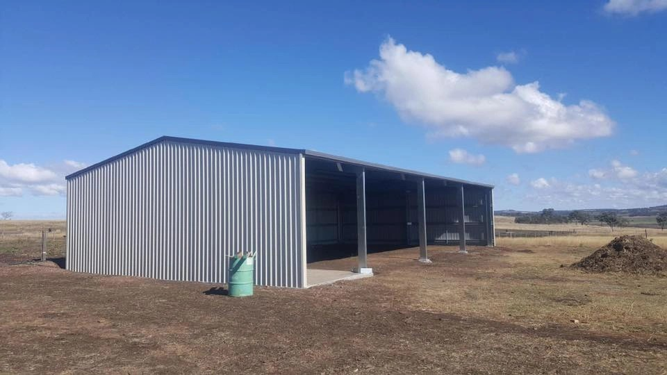 Open Front Rural Sheds