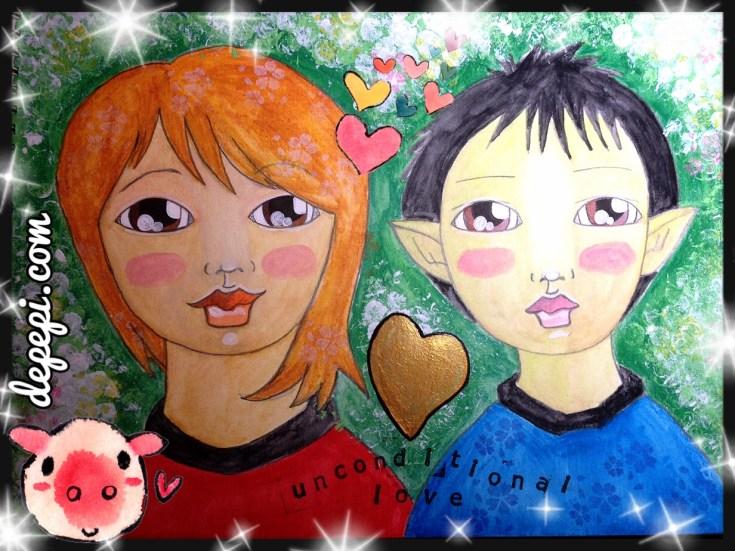 vulcan, autism, depepi, depepi.com, healing, healing with art, mixed media, mixed media art, cute, kawaii, autistic