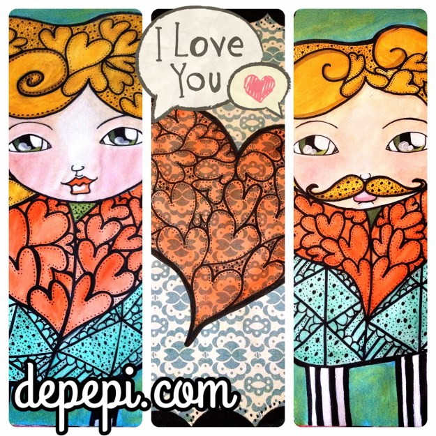 depepi, depepi.com, mixed media, mixed media art, journaling, doodle, healing, love, valentine, cute, kawaii, valentine, be my valentine