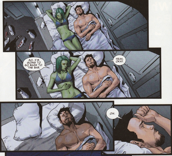 (C) Marvel; Gamora and Iron Man