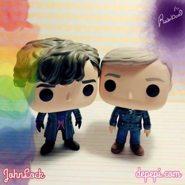 johnlock, sherlock, watson, funko, funko pop, funko love, funko friday, depepi, depepi.com