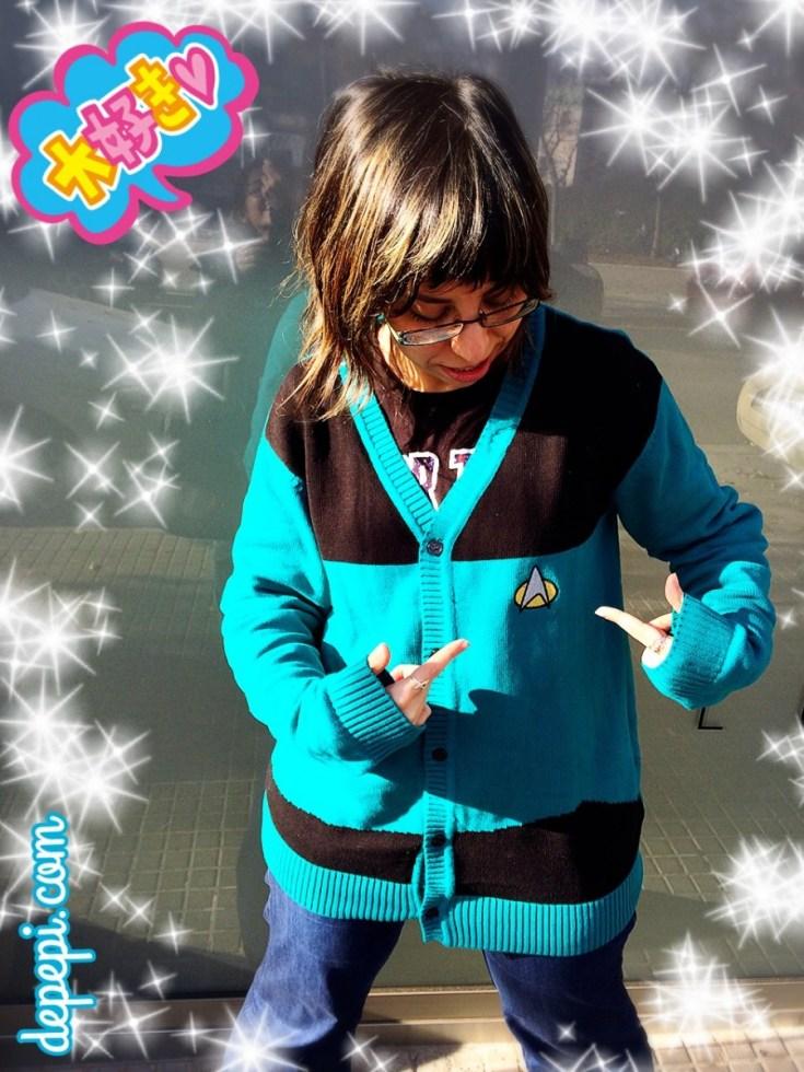 we love fine, star trek, star trek TNG, star trek tng cardigan, depepi, depepi.com, superhero