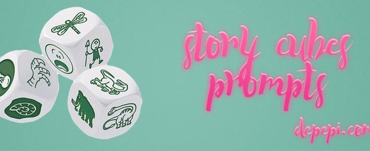 story cubes, story cubes prompts, blogging, depepi, depepi.com