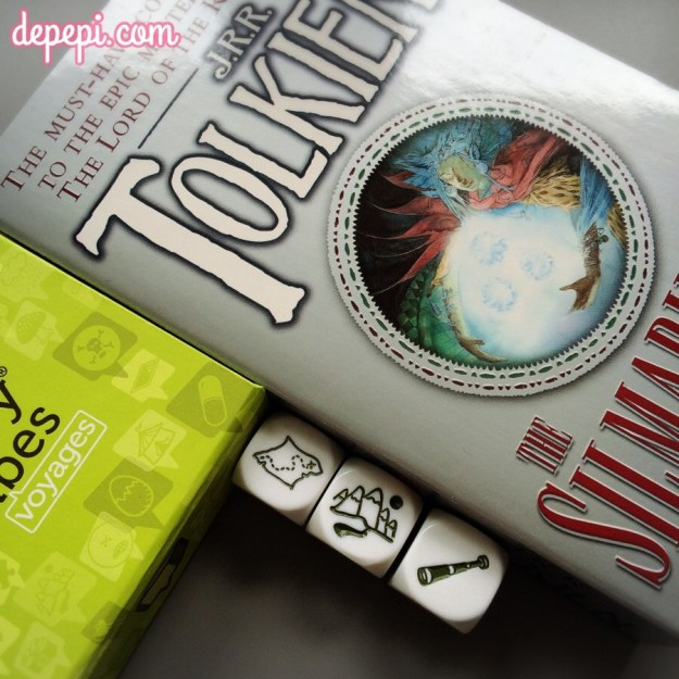 story cubes, prompts, blogging, writing prompts, the hobbit, tolkien, lord of the things, lotr, depepi, depepi.com