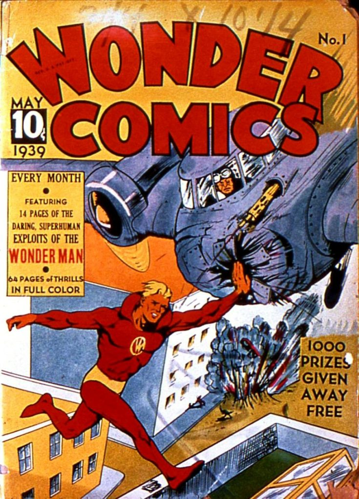 wonder comics, wonder man, the history of comics, comics in the US, depepi, depepi.com