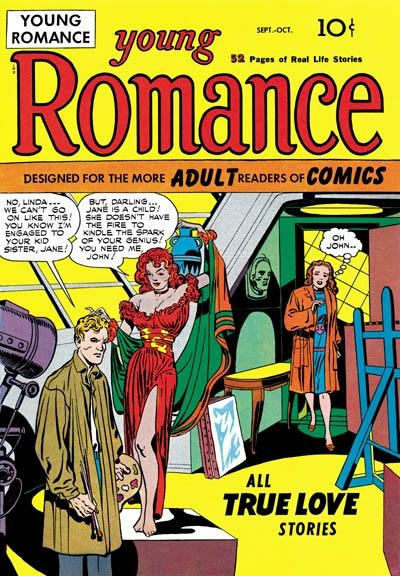 young romance, comics, history of comics, depepi, depepi.com, jack kirby