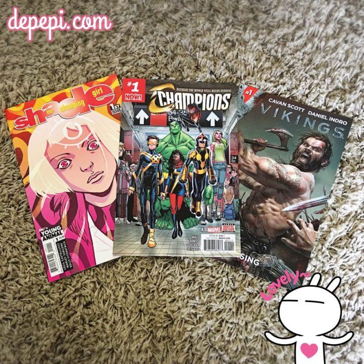 comics, comic book haul, pull list, dc, marvel, titan comics, vikings, champions, depepi, depepi.com