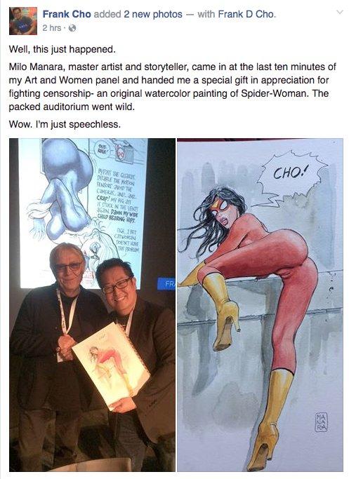 milo manara, spider-woman, free speech, sexist, depepi, depepi.com