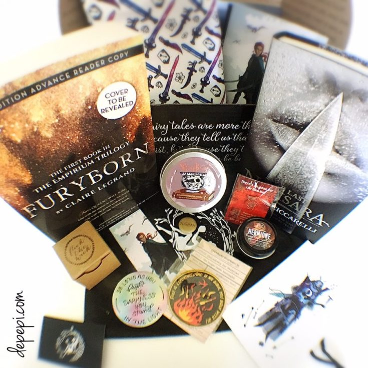 fairyloot, fairyloot november 2017, ladies that slay, unboxing, bookish, depepi, depepi.com