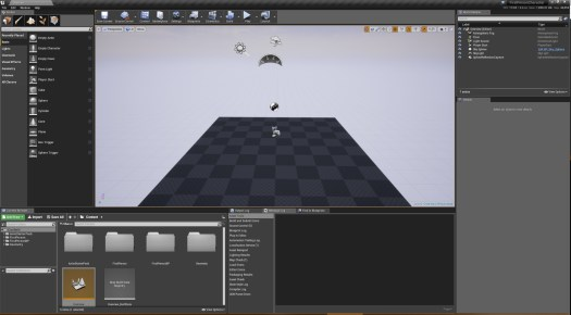 Screenshot of First Person Character project, initial setup