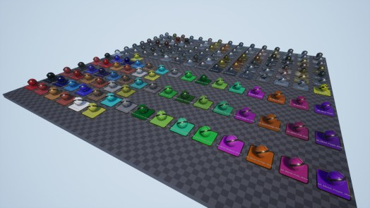 Overview of 170 metal material assets for Unreal Engine 4